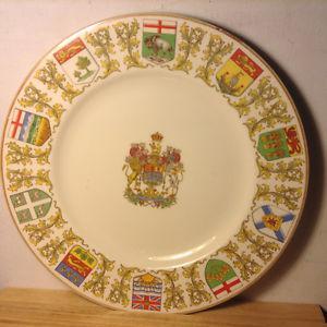 """Vintage Souvenir Crown Ducal Provinces of CANADA Plate 10"""""""
