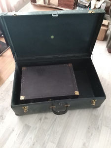 Vintage Suitcases.... Big one with small one inside.