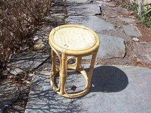Wicker Plant Stand 18 In Tall and Top is 12 Inches Across