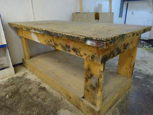 """Wood Workshop Bench Table 8' X 4' X 40"""" -"""