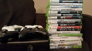 Xbox 360 with 19 games...