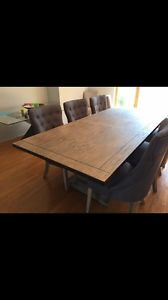 brand new rustic dining table w leaf seats 8