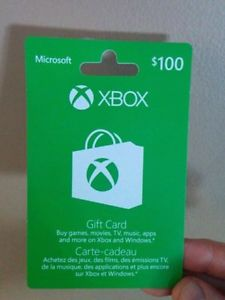 $100 Xbox Gift Card - For Sale or Trade
