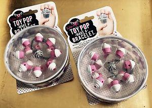 2 BRAND NEW • Bling Toy Pop • MAKE A BRACELET Kits