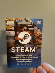 $20 and $50 steam gift cards for sale