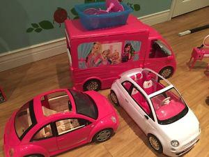 Assorted Barbie toys