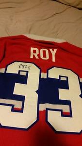 Autographed Patrick Roy Jersey