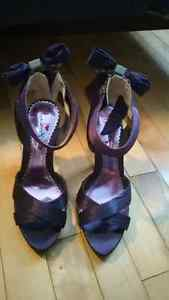 Beautiful Never Worn Purple Shoes w/ Adorable Bow