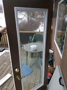 """EUC steel exterior door - 32"""" x 80"""""""