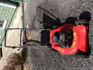 GAS MOWER WITH MULCHER BAG. WORKS GOOD. NO LONGER NEED
