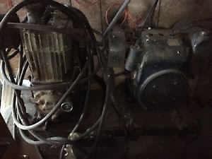 Gas shop air compressor
