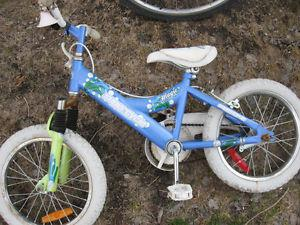 Girls bike with 16 inch tires