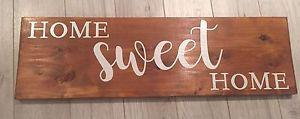 """""""Home sweet home"""" wood sign"""