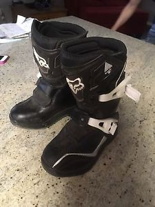 Kids motor cross boots fox racing