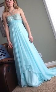 Light Blue Grad Dress