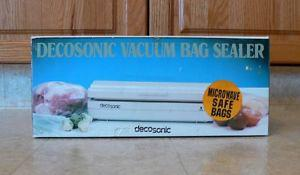 New Decosonic Vacuum Bag Sealer with Roll of Bags