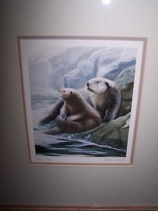 OTTER PRINT by BRUCE MUIR.SIGNED & DATED .