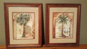 Palm Tree Pictures (set of 2)