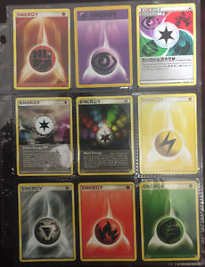 Pokemon Energy page