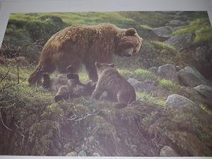 Robert Bateman Grizzly and cubs