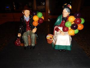 Royal Dolton The Old Balloon Man & Lady