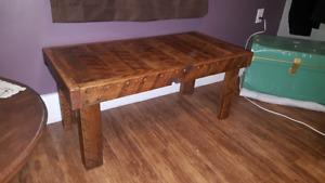 Rustic Oak Coffee Table