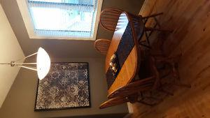 Solid Oak Extention Dining Room Table Set