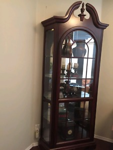 Solid cherry wood cabinet