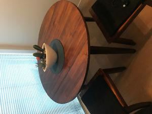 Solid wood kitchen table. With fold out sides