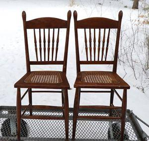 Vintage Cane Seat Chairs, nice condition $35 each.