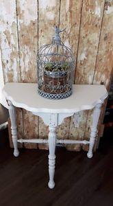 Vintage Half Moon Table