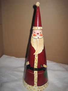 Vintage Wooden Nesting Santa Claus (Two)