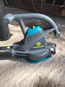 Yardworks 12A Electric Leaf Blower Vacuum
