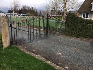 gates wrought iron double swing 14 ft