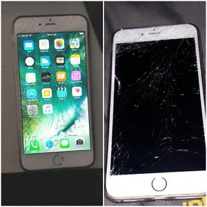 iPhone 6 Plus cracked screen
