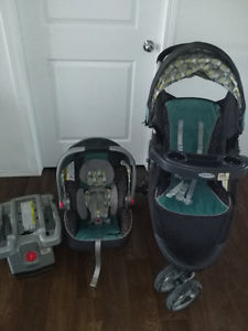 Baby Stroller with car seat in very good condition