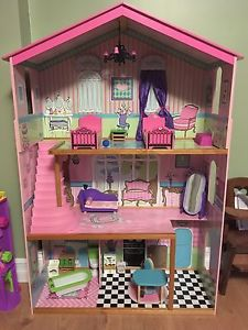Barbie house and furniture, Barbies, camper, cruise ship