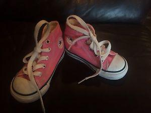 Converse Pink High Top Shoes in size Toddler 6