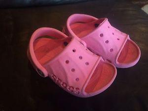 Crocs pink girls sandals in size Toddler 6/7