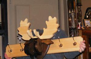 Hand Made Wooden Moose coat hanger