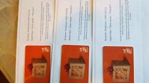 Home Depot gift cards discounyed