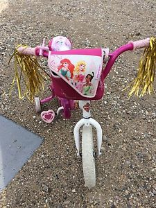 Little Girls 10 inch princess bike