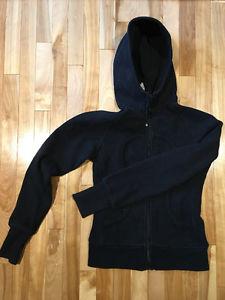 Lulu Lemon Black Scuba Hoody & North Face Jacket