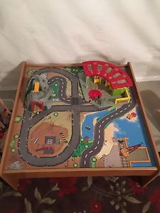 Train table with 30+ trains and tracks