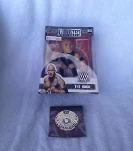 WWE Slam Crate Metal The Rock Figurine and Gold Championship