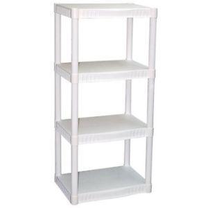 White plastic shelves 2 for 1