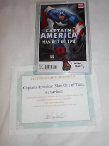 1:15 Signed ART ADAMS variant CAPTAIN AMERICA MAN OUT OF