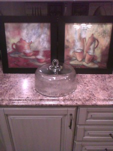 2 beautiful framed kitchen decor pictures
