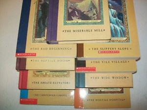 """9 different """"A Series of Unfortunate Events"""" Chapter Books"""