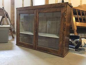 Antique glass cupboard